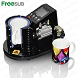 Freesub Automatic Pneumatic Mug Heat Transfer Press Printing Machine
