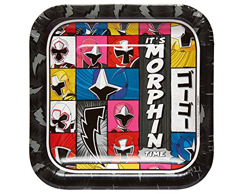 Power Rangers Plates - Power Rangers Ninja SteelTM Square Plates, 7
