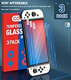 3 Pack Tempered Glass Screen Protector for Switch