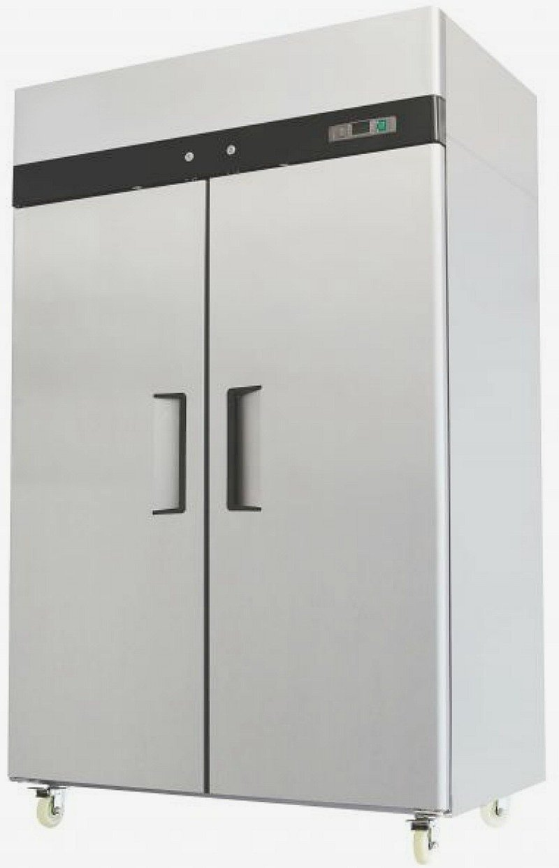 52 Inch Freezer Double Solid Doors Stainless Steel Reach-in Commercial Grade Restaurant 44.5 Cubic Ft Model MBF8002