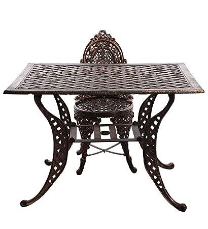Karara Mujassme Victorian Style Antique Copper Garden Outdoor Cast Aluminium Chair and Table