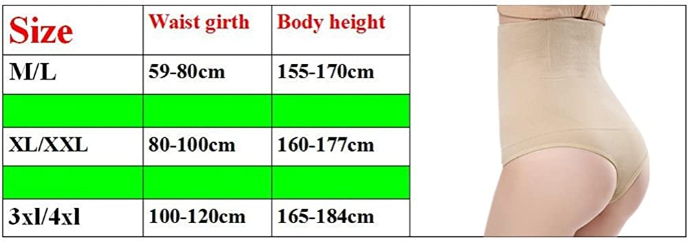 AOBRITON Women High Waist Butt Lifter Body Shaper Thong Pants Waist Trainer Tummy Hip Control Panties Bum Lifter Shapewear