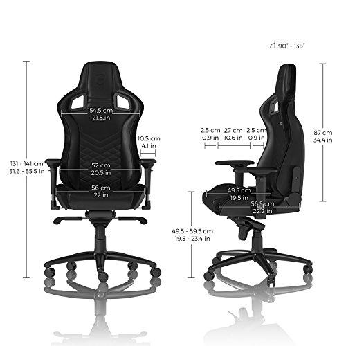 noblechairs Epic Gaming Chair - Office Chair - Desk Chair - PU Leather - Black