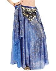 GAGA Womens Belt Colorful Waist Belly Dancing Belly Dance Hip Scarf Belt Triangle Skirt