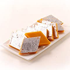This delicious Kaju-Kesar burfi is a classical sweet - rich in flavour but not very sweet or heavy. It is an ideal light dessert . Coming from Kandoi, one of the oldest & most reputed shop of country. One packet of 500 gm contains ...