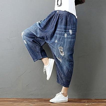 6de16c25caac Amazon.com: Lannmart Women Plus Size Elastic Waist Scratched ...