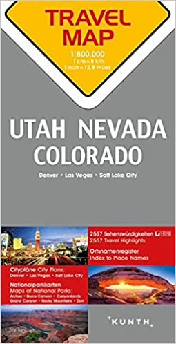 Reisekarte Utah / Nevada / Colorado 1:800.000: Travel Map Utah ...