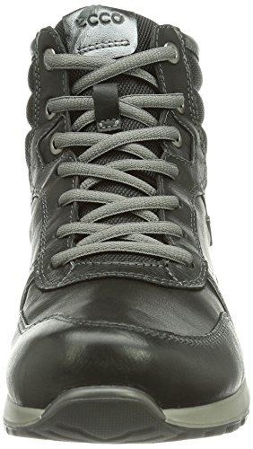 Ecco CS14 LADIES, Baskets pour femme Noir - Schwarz (Black/Black/Buffed Silver 54869)