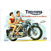 Tin Sign Motorcycle Bike Poster Metal Plate Wall Decor by Jake Box 20*30cm of Triumph TRI650 Thunderbird