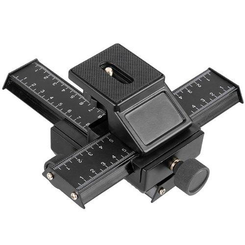 pangshi 4 Way Macro Focusing Focus Rail Slider Shot Compatible for Nikon Canon Pentax Camera Sony
