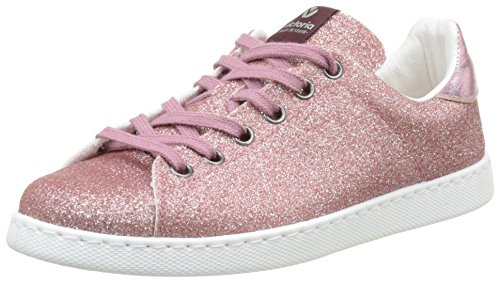 Victoria Deportivo Basket Glitter Laminado - Botas Mujer Rosa (Rosa)