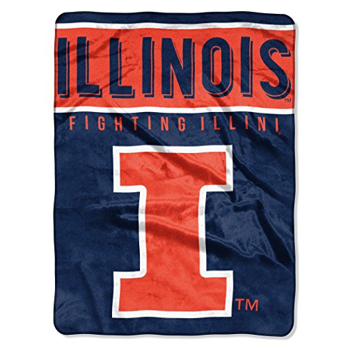 The Northwest Company NCAA BlanketOne Size (Fighting Blanket Illini)