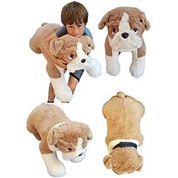 Amazon Com Deluxe Paws Extra Large Bulldog Plush Soft Toy 26 Toys