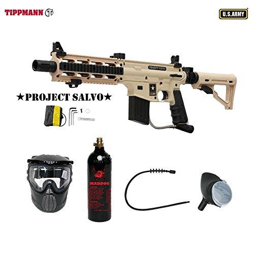 MAddog Tippmann U.S. Army Project Salvo Bronze Paintball Gun Package - ()