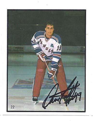 df5f67a221442 DAVID LATTA 1985-86 Police  22 Hockey SGA Rookie Card RC Kitchener ...