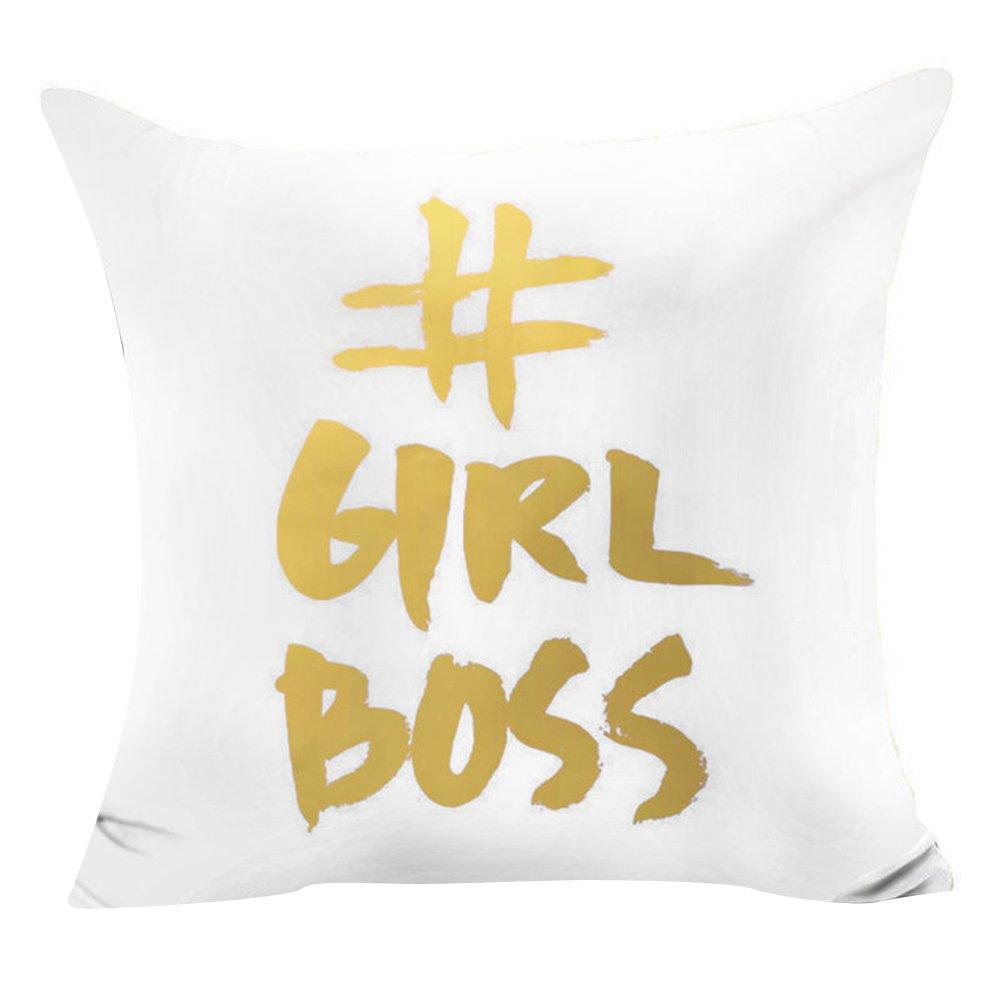 Girl Boss Taies d/'oreiller ou de coussin avec divers motifs imprim/és 45 x 45 cm Polyester par Pu Ran.
