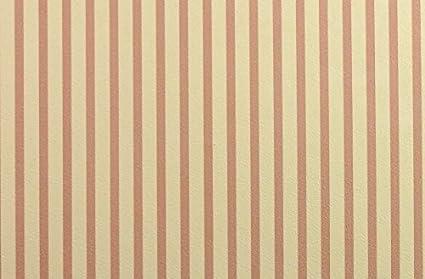 Melody Jane Dolls Houses House Miniature Print 1:12 Scale Red Cream Regency Stripe Wallpaper