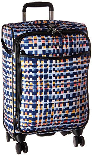 Vera Bradley Iconic Small Spinner Suitcase, Microfiber, Abstract Blocks