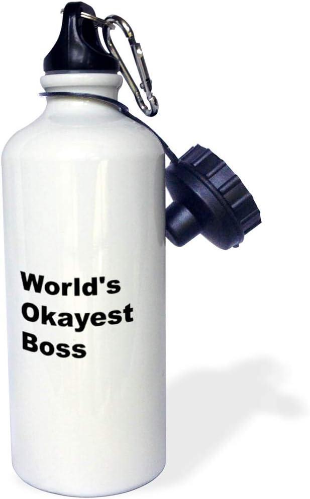3dRose Water Bottle, 21oz, White
