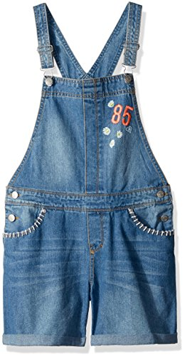 Tommy Hilfiger Big Girls' Denim Coverall with Patches, Vintage Blue, XL16 (Denim Coverall)