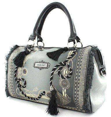 f09357a595 Nicole Lee Handbag Vivian Purse Fringe Fashion (Black)  Amazon.ca ...