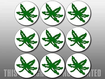 amazon com american vinyl sheet of 9 round buckeye helmet stickers