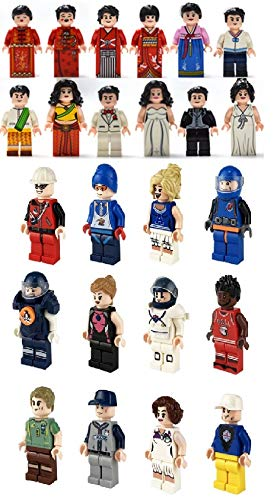Mini Innovation Brick Minifigures Set Of 24 Includes Accessories And