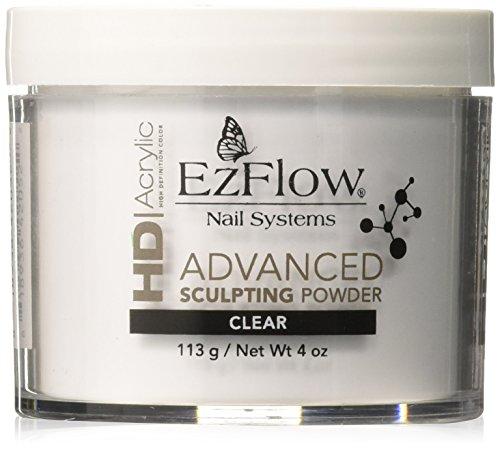 EZ Flow High Definition Clear Powder False Nails, 4 - Powder Ezflow Acrylic