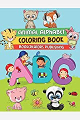 Animal Alphabet Coloring Book: Learn Letters and Numbers by Coloring Paperback