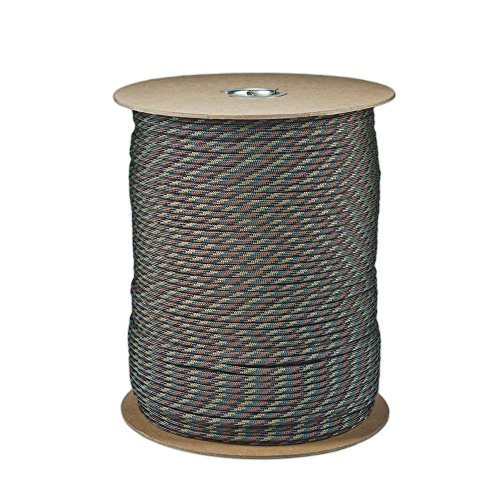 Sgt Camo - SGT KNOTS Paracord 550 Type III 7 Strand - 100% Nylon Core and Shell 550 lb Tensile Strength Utility Parachute Cord for Crafting, Tie-Downs, Camping, Handle Wraps (4mm - 100 ft - Woodland Camo)