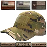 #4: Lightbird Tactical Hat Bundle, Adjustable Operator Hat with 6 Pcs Tactical Velcro Patches, Durable Tactical OCP Ball Cap Hat for Men Work, Gym, Hiking and More