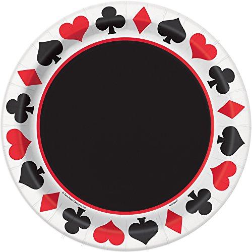 Poker Night Dinner Plates, 8ct Alice Dinner Plate