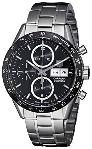 Tag-Heuer-Mens-Carrera-Black-Dial-Stainless-Steel-Chronograph-Watch-CV201AGBA0725