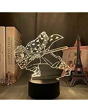 Acryl Led Nachtlampje Anime Demon Slayer Agatsuma Zenitsu Figuur voor Kinderen Kind Slaapkamer Decor Cool Kimetsu Geen Yaiba Lamp Gift, DM04,16 kleur met afstandsbediening