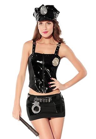 Dear Lover Damen Bound Zu Bitte Cop Kostum Halloween Fur Zombie Diy
