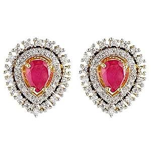 Aurora Women's Alloy Ruby Earring