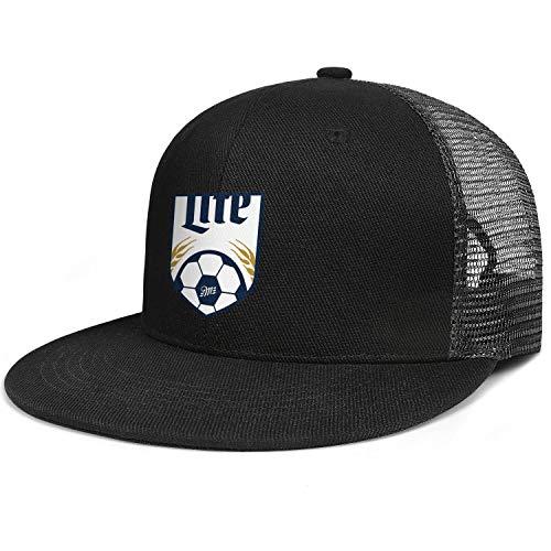 jdadaw Miller-Lite-Football- Woman Man Adjustable Flat Bill Baseball Caps Sports Caps Trucker - Football Miller
