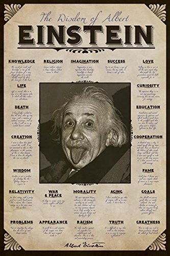 Albert Einstein Quotes Poster Art Print