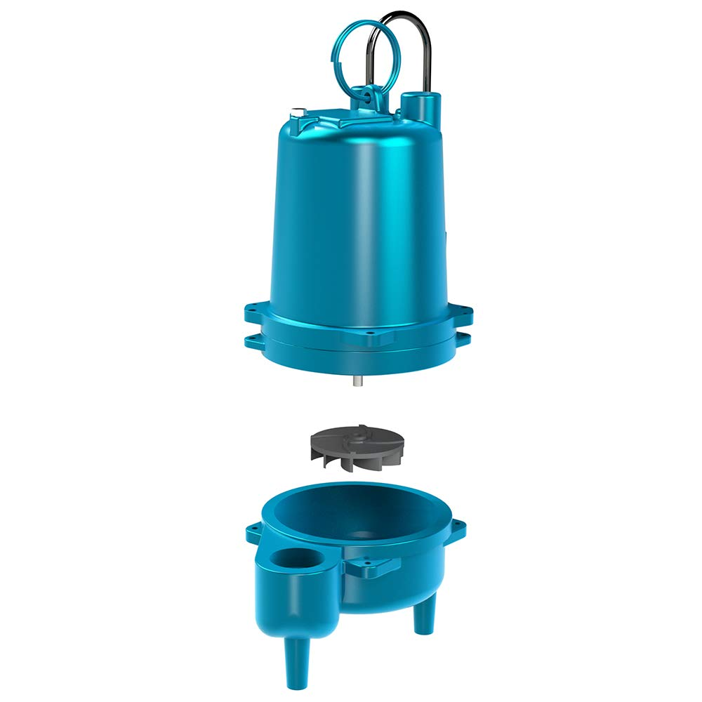 Barnes SE411 Submersible Cast Iron Sewage Pump - 4/10-HP, 7,500 GPH, 120V / 1Ph, 40' Cord, No Float Switch by Barnes