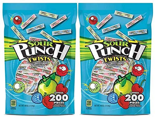 Sour Punch Twists, Assorted Flavors, 3