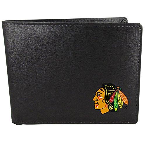 NHL Chicago Blackhawks Bi-Fold Wallet, Black