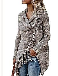 BIUBIONG Women's Long Sleeve Open Front Bohemian Knitted Cardigan