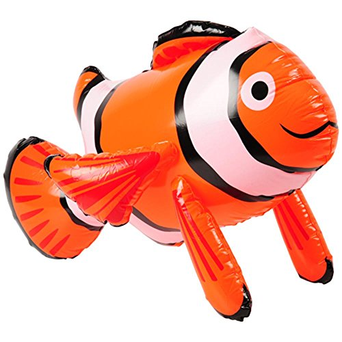 U.S. Toy Inflatable Toy Clown Fish