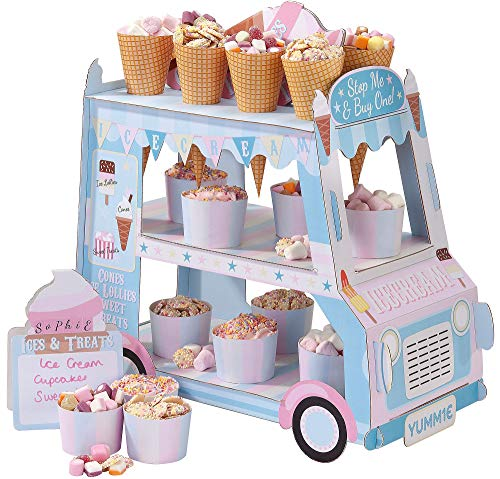 Talking Tables Ice Cream Party Decorations | Ice Cream Cart Party Décor | Great For Kids Party, Birthday Party And Summer Décor | Paper -