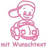 Babyaufkleber mit Wunschtext - Motiv 145 (16 cm) - 20 Farben und 11 Schriftarten wählbar