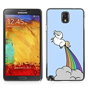 Designer Depo Hard Protection Case for Samsung Galaxy Note 3 N9000/Unicorns & Rainbows