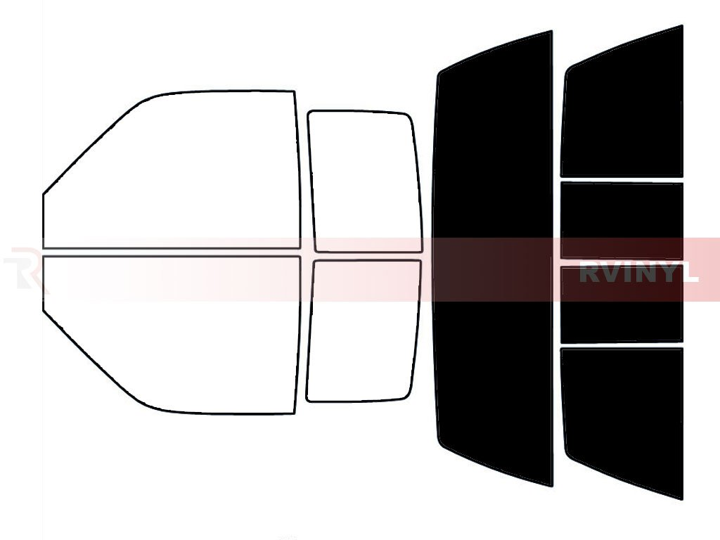 2 Door Rtint Window Tint Kit for GMC Sierra 1993-1999 20/% - Complete Kit