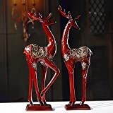 The couple had a birthday gift resin deer marriage bridal housewarming gift gift to move to a new home zj0124416