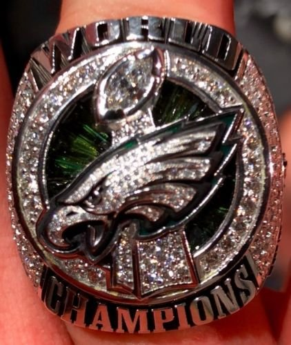 - Custom Rings Philadelphia Eagles Super Bowl 52 LII 2017-2018 Ring - Nick Foles (Ring Size 11)