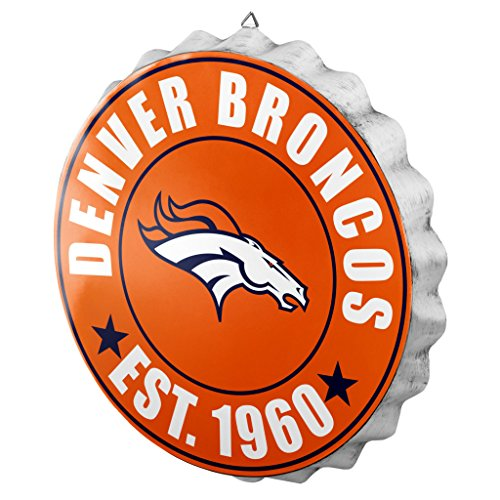 FOCO Denver Broncos 2016 Bottle Cap Wall Sign (Hockey Fan Signs)